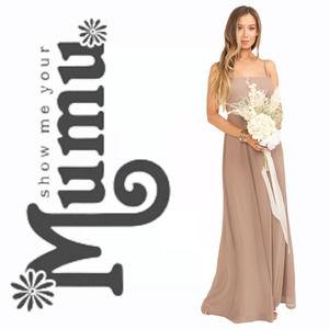 Show Me Your MuMu Lauren Tie Maxi Dress Tan | XS